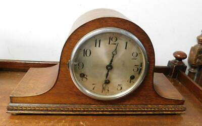 oak cased westminster whittington mantel clock
