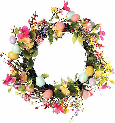 Photorealistic Easter Wreath Window Cling Shop Window Easter Display Cling