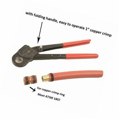 """Crimping Tool 1"""" Crimper Piler Angle for Copper Ring with free GO-NO-GO Gauge"""