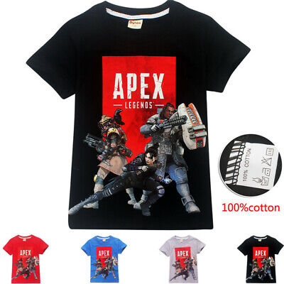 Hot Apex Legends T-Shirt Children Kids Boys Girls Summer Cotton Tee Tops Gift