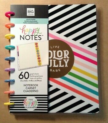 """+NEW! me & my BIG Ideas The Happy Planner """"LIVE COLORFULLY"""" Journaling/Notebook"""