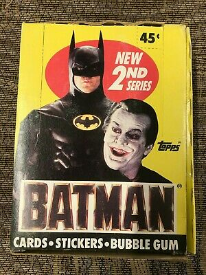 1989 TOPPS BATMAN UNOPENED 4 PACK LOT CARDS STICKERS WRAPPER VARIATION FROM BOX