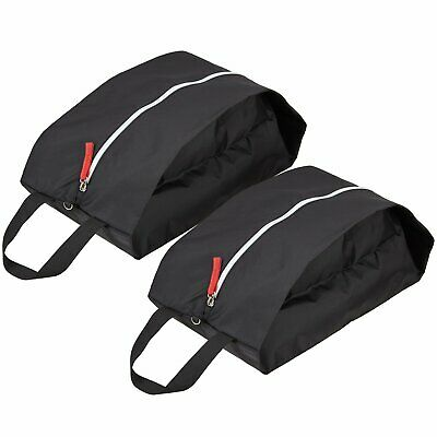 TRAVELTO Set de 2 Bolsas para Zapatos de Nylon Resistente con Cierre Ideal para