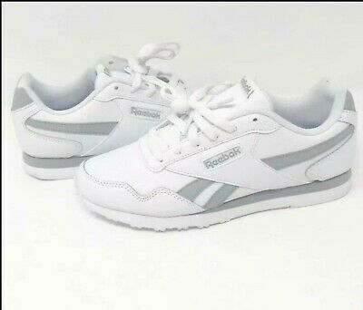 Reebok Royal Foam Lite Ortholite Leather White   Gray Shoes New Sz 8  Sneakers cfcdad6d4