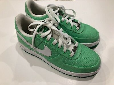 various colors 36e67 be619 NIKE AIR FORCE 1 LOW CANVAS GREEN TOURMALINE WOMENS WMNS Size 8.5