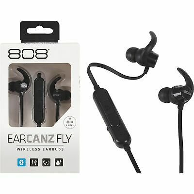 f0fd493fb2a Voxx 808 EarCanz Fly Bluetooth Wireless Earbuds - Black - Water Resistant -  NEW