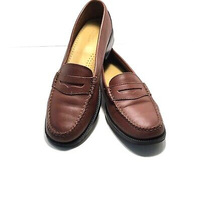6e02bad4cb6 Bass WEEJUNS Kathleen Brown Leather Penny Loafers Shoes Women s Size 8.5 M
