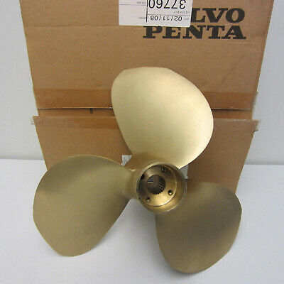 Volvo Penta New OEM IPS DuoProp Nibral Brass T3 F Front LH Propeller 3861096