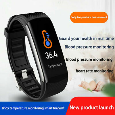 Bluetooth Fitness Watch Bracelet Sport Activity Tracker Blood Heart Rate Monitor