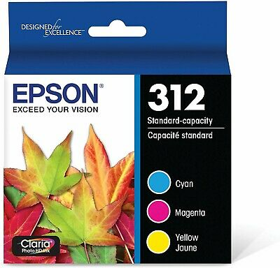 Epson 312 ink T312923 Claria Photo HD Color C/M/Y Combo Pack Ink Cartridges