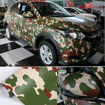 Bubbles Free Diy Car Forest Tree Camouflage Camo Vinyl Wrap Decal