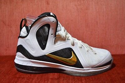 big sale 803af 05b7c Nike Air LEBRON 9 P.S. ELITE 516958-100 WHITE METALLIC GOLD-BLACK