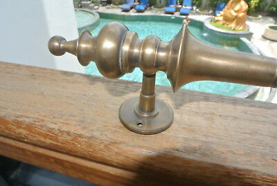"""1 large DOOR handle pulls solid SPUN brass vintage aged old style 12 """"B"""