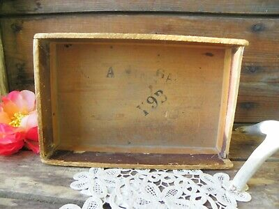 N. 003 Vintage Bowman Seed Company Wood Box Home Decor Wooden Wall Collectible