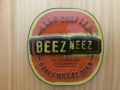 "Matilda Bay ""BEEZ NEEZ"" Honey Wheat Beer Metal Badge / Decal"