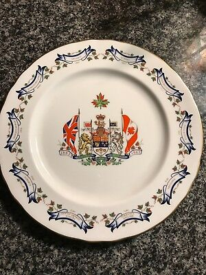 Beautiful Aynsley 'Centennial Of The Canadian Federation' Plate, 1867 - 1967