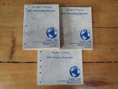 2001 ford f-650, 750 medium truck workshop manuals and wiring diagrams  manual
