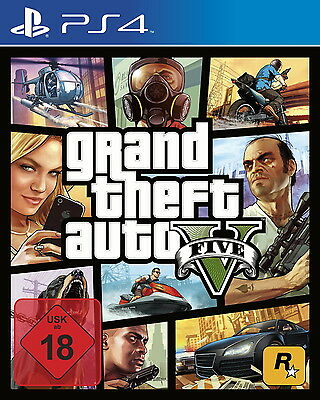 Grand Theft Auto Five V 5 Sony PlayStation 4 PS4 DVD-Box Game Spiel Dt Ware Neu