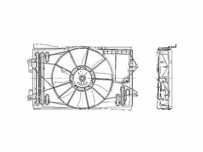 For 2003-2008 Toyota Corolla Auxiliary Fan Assembly 46631BG 2007 2005 2006 2004