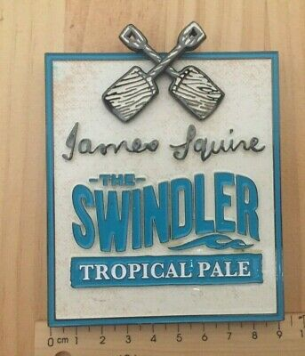 "James Squire The Swindler ""TROPICAL PALE"" Beer Tap Badge / Decal -Current"