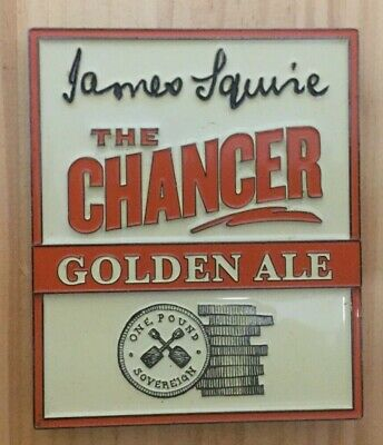 "James Squire ""THE CHANCER"" Golden Ale Beer Tap Badge / Decal"