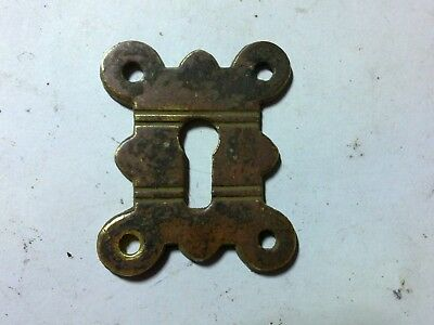 escutcheon, Art Deco, brass, vintage, (HE17)