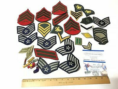 U.S. Military Vintage HUGE LOT of 34+ Patches & Medals Nice Shape