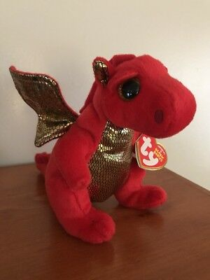 LEGEND THE RED DRAGON TY beanie Babies Baby sparkle eyes regular 6