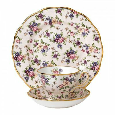 Royal Albert 100 Years 1940 English Chintz Setting SET TEA CUP SAUCER PLATE NIB