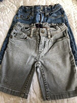 Two Pair Paul Smith Junior Denim Jeans Shorts Size 4 Years Old Girls