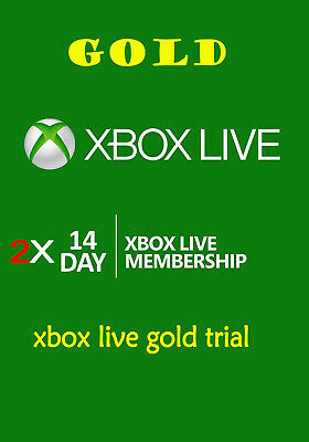 Xbox Live Gold 1 MONTH Membership Code ( 2 x 14DAYS ) Microsoft Xbox One / 360