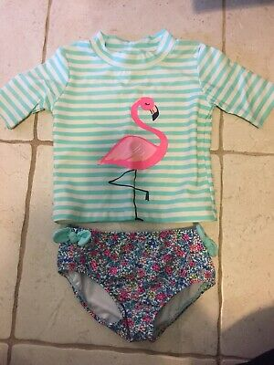 ca69e8203 CARTERS BABY GIRL 24 Months Flamingo Bathing Suit Swim Two Piece Guc ...