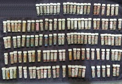 Mixed Lot of Seeley's China Paint for Dolls or Plates 124 Vials 61 Shades