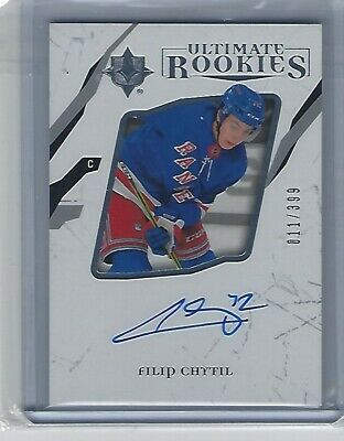 17/18 UD Ultimate Collection FILIP CHYTIL RC Auto Rookie Rangers /399