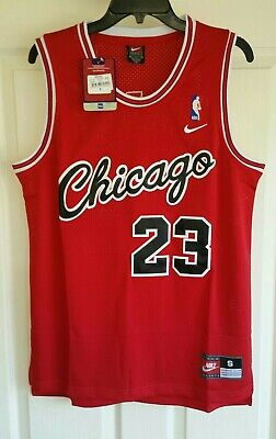 Nwt Michael Jordan #23 Chicago Bulls Red Rookie Throwback Jersey Small S