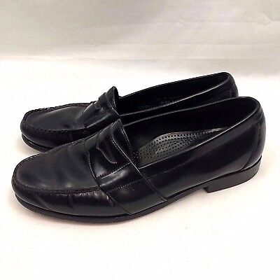 94a4fe45b30 Cole Haan City Mens Penny Loafer Dress Shoes US 9.5M Black Leather Slip On  Euc