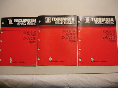Tecumseh Mechanic's Handbook HSK HXL840 850 TVS 2-Cycle Engines Service Manual