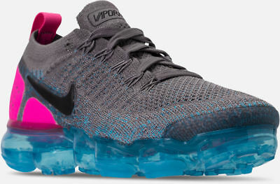 Nike Air Vapormax Flyknit 2 Running Shoes Grey / Blue / Pink S 9.5 942842 004