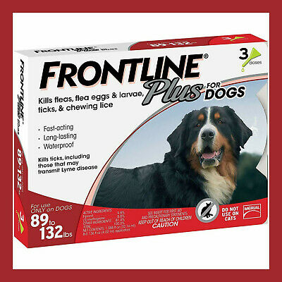 Frontline Plus for Dogs XL Dog 89-132 pounds, Flea and Tick Treatment - 12 MONTH
