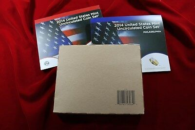 2014 United States Mint Uncirculated Coin Set, 28 Coins, P & D Mint Coins