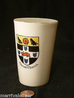 Antique CHRIST CHURCH COLLEGE Oxford Porcelain Cup W H Goss Crested China