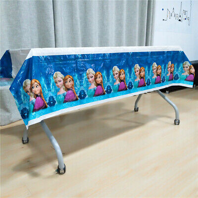 Frozen Tablecloth Birthday Party Girls Table cover Kids Elsa Anna Decoration