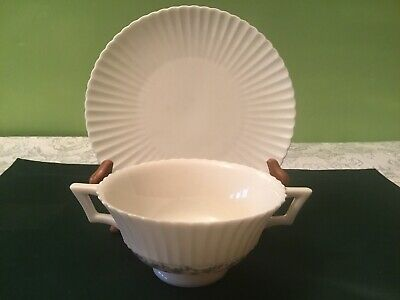 (1) Lenox PRISCILLA  China Footed Cream Soup Bowl with Saucer  ~ MINT  multiples