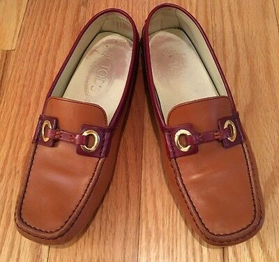 ce14662f1e7 TODS LOAFERS SIZE 4   36 Women s Gommino Leather Driving Shoes ...