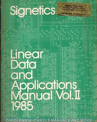 SIGNETICS Data Book 1985 Linear Data and Applications Manual Vol 2