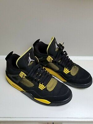 designer fashion 490c4 9594c Nike Air Jordan 4 Retro Thunder 2012 Black Tour Yellow Size 11.5 308497 008  EUC