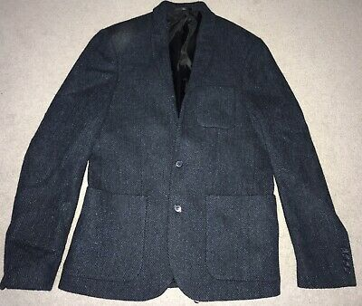 """Men s Genuine Harris Tweed Navy Blazer Chest Size 38"""" Slim Fit Perfect For  Races 503c8a531cf4"""