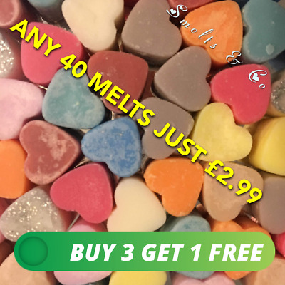 ❤️❤️ Double Hearts Scented Wax Melts Vegan Friendly Eco Soy Wax FREE P/&P❤️