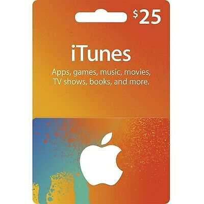 Canadian Itunes Card $25 - Email Or Post Mail Canadian App Store