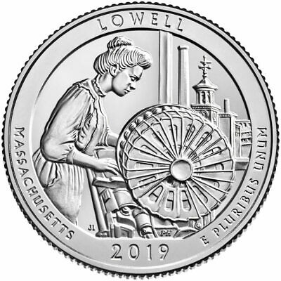 "2019 America The Beautiful Quarters - Lowell Historical Park ""p"" ""philli  Mint"""